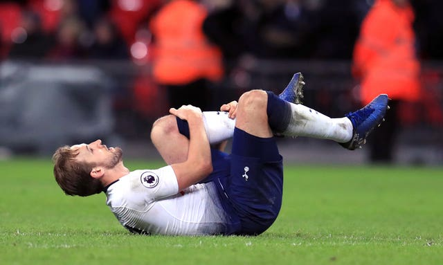Harry Kane's injury is a huge blow to Tottenham's title hopes (Mike Egerton/PA).