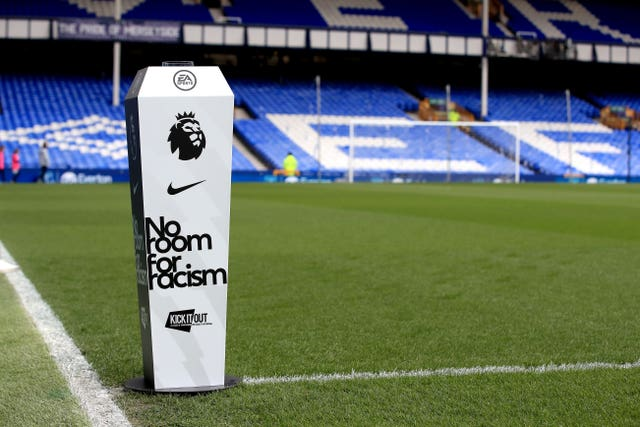 The Premier League's anti-racism campaign will be out in full force around the grounds this weekend.