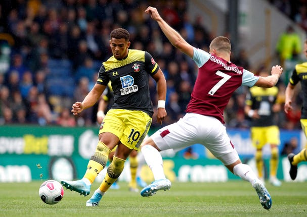 Southampton's Che Adams, left, was a summer signing from Birmingham