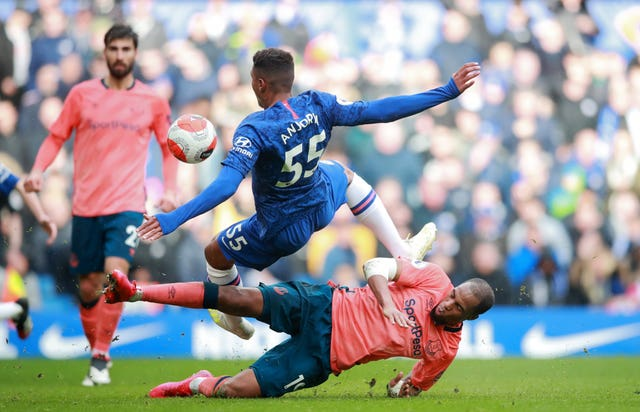 Djibril Sidibe went in strong on Chelsea debutant Faustino Anjorin
