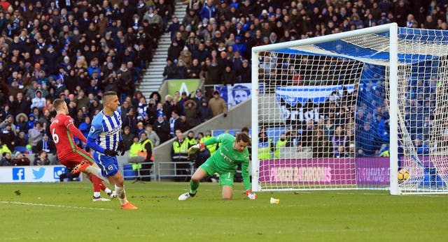 Anthony Knockaert slots home for Brighton