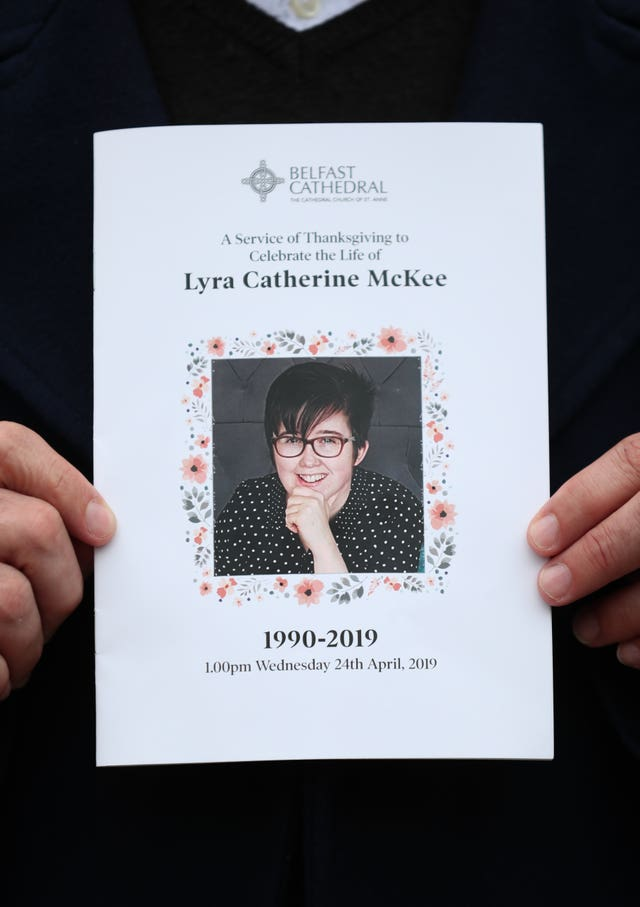 The order of service at the funeral of murdered journalist Lyra McKee