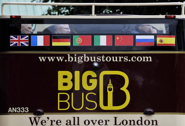 A Big Bus tour bus