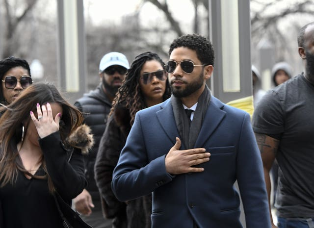 Actor Jussie Smollett arriving at court in Chicago