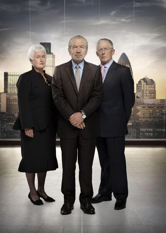 Margaret Mountford, Lord Sugar and Nick Hewer (Talkback Thames/BBC)