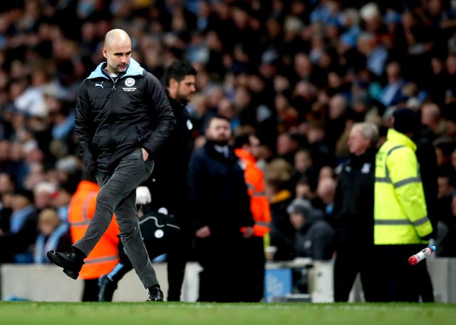 Manchester City manager Pep Guardiola's frustration was clear after letting victory slip