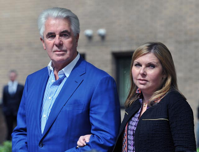 Max Clifford with his daughter Louise in 2014