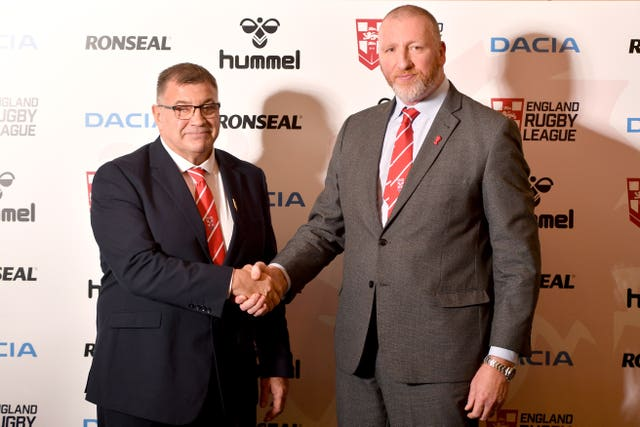 RFL chief executive Ralph Rimmer (right) is still hoping newEngland Head Coach Unveiling – University of Bolton Stadium