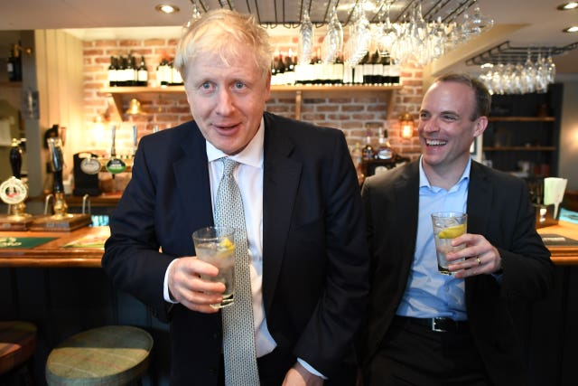 Boris Johnson with Dominic Raab