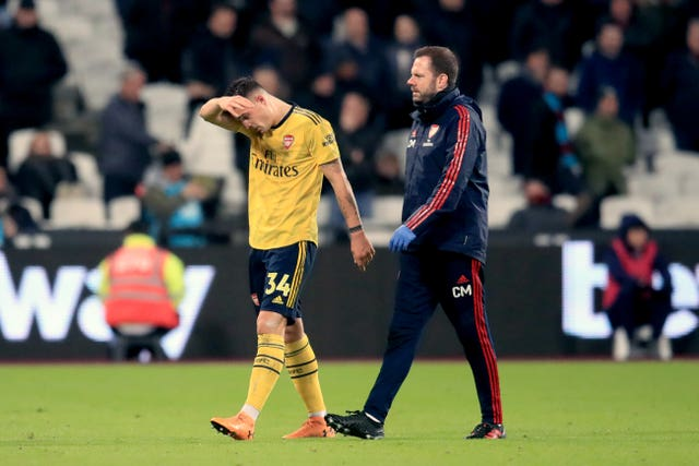 Arsenal's Granit Xhaka missed a game recently after suffering a head injury against West Ham