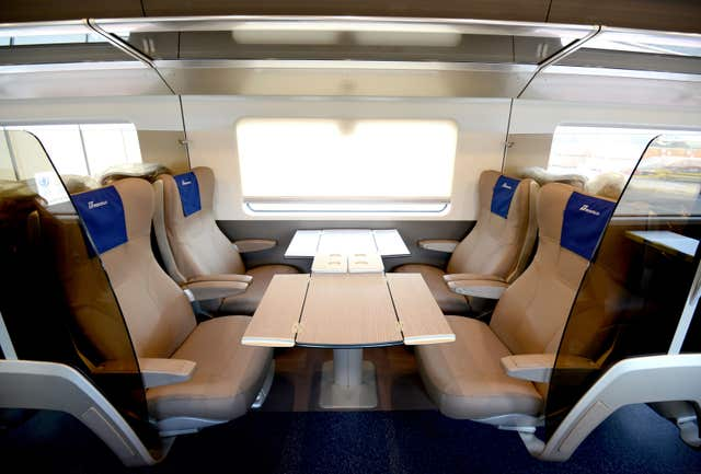 The interior of the Frecciarossa 1000