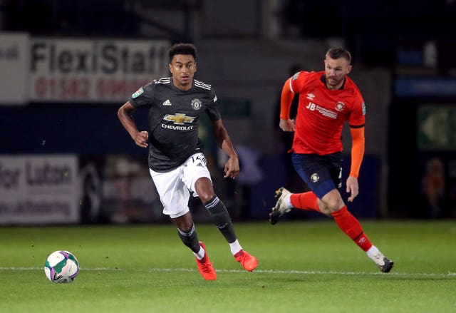 Lingard has made just two Carbao Cup appearances this season