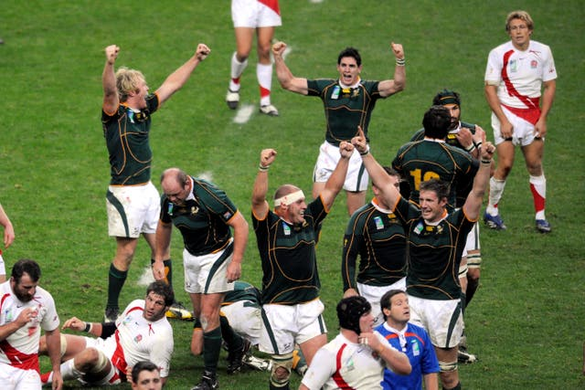 England suffered World Cup final heartache against South Africa in France