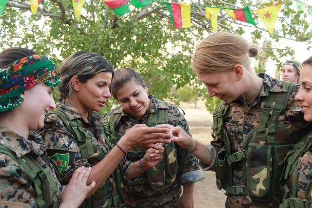 Anna Campbell,of Lewes, died fighting with the Kurdish armed unit in Syria (YPJ/PA)