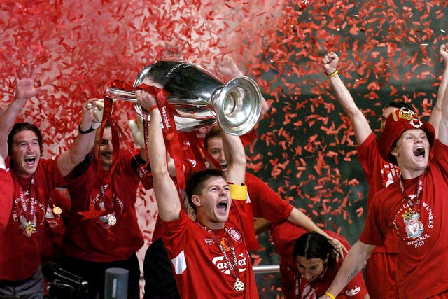 Gerrard tasted victory in seven major finals as player, including Liverpool's famous 2005 Champions League triumph