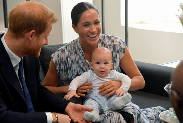 ]Harry, Meghan and son Archie moved to America in 2020. Toby Melville/PA Wire