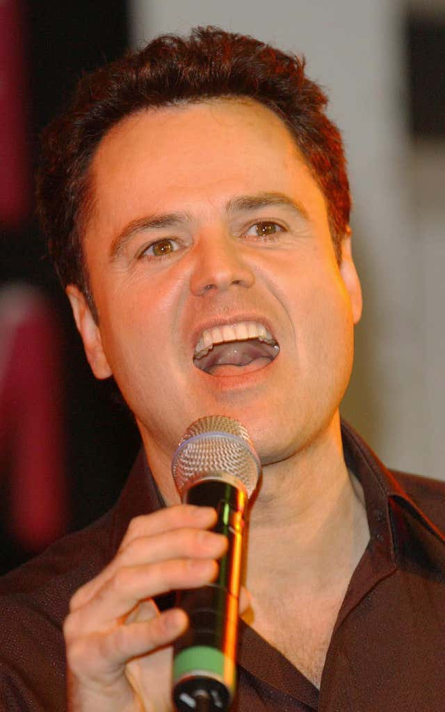 Donny Osmond during a in-store HMV gig and signing