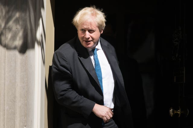 Boris Johnson urged Donald Trump not to ditch the pact (Stefan Rousseau/PA)