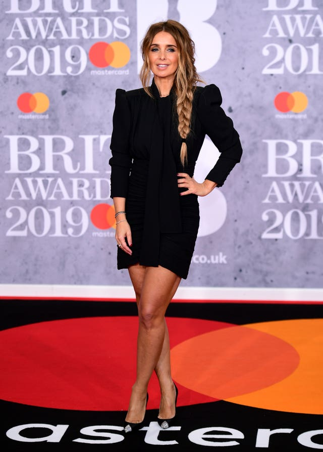 Louise Redknapp on the red carpet at the Brits