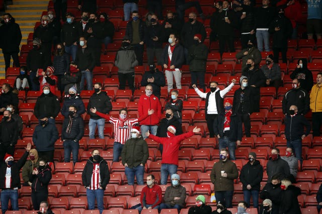 Southampton had a few Premier League games in front of a reduced crowd this season