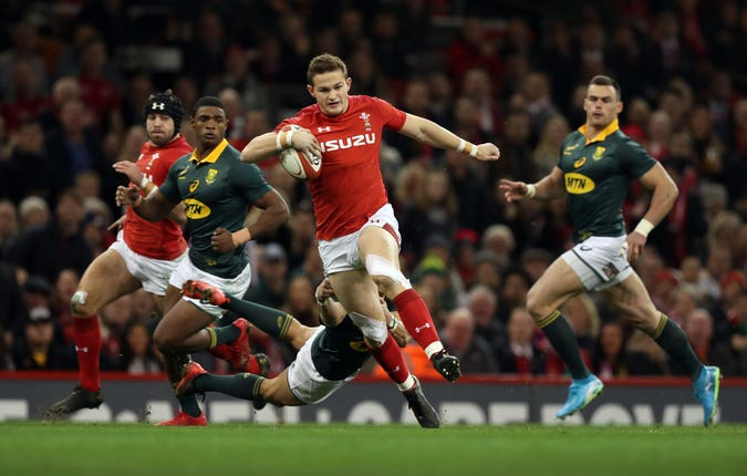Hallam Amos will likely provide back-up to fly-half Rhys Patchell