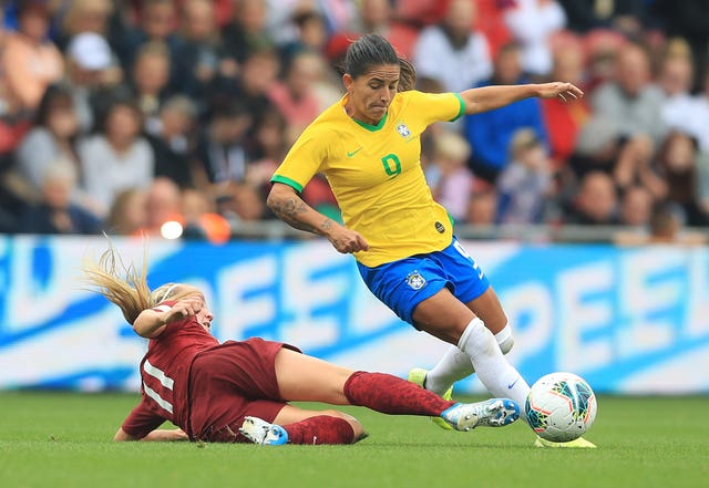 Debora scored both of Brazil's goals at the Riverside