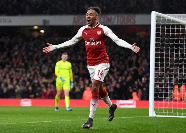 Aubameyang scored on his Arsenal debut in a Premier League win over Everton in February 2018.