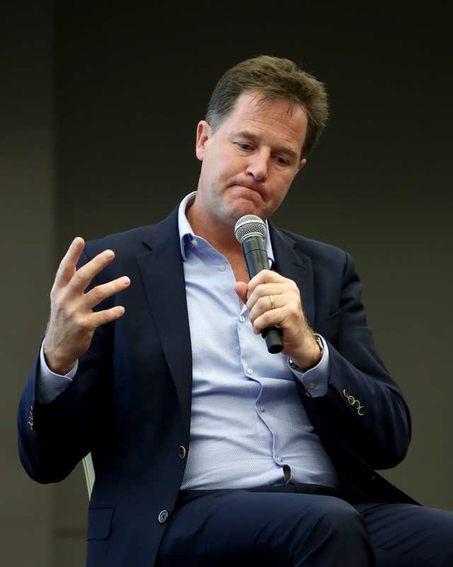 Nick Clegg now works for Facebook (Gareth Fuller/PA)