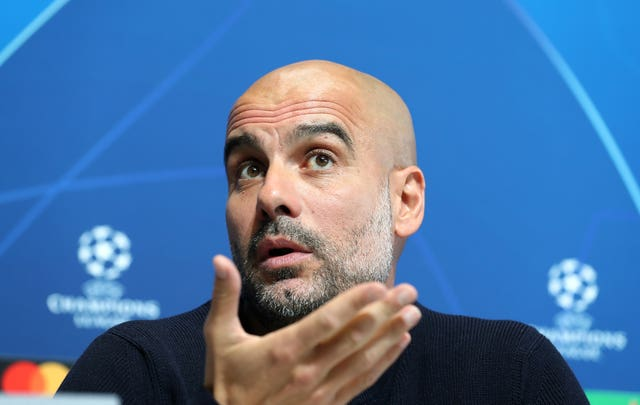 Manchester City manager Pep Guardiola says he 'trusts' the club's conduct amid FFP allegations (Martin Rickett/PA).