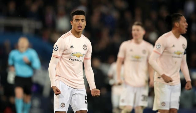 Mason Greenwood made his Manchester United debut in the famous March 2019 win at PSG