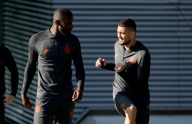 Antonio Rudiger, left, is ready to return