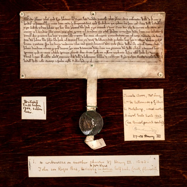 Ancient deed with crude place name to be auctioned