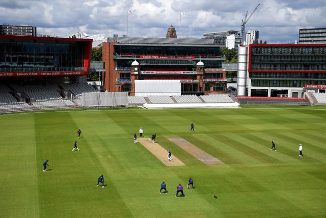 A general view of play during day three at Old Trafford