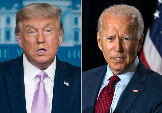 Donald Trump and Joe Biden are duelling for the White House (AP)