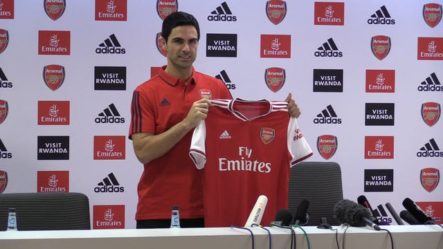 Mikel Arteta was appointed as Unai Emery's successor as Arsenal head coach in December.