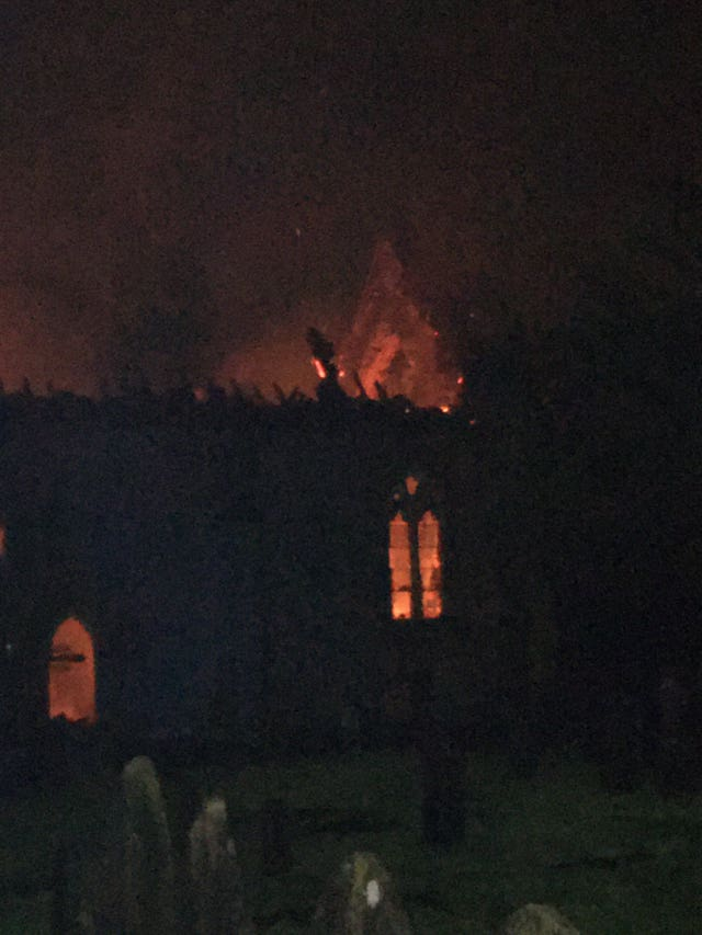 Fire at church in Mackworth