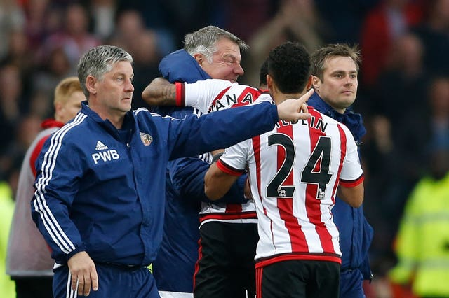 Allardyce enjoyed a crucial win against Everton as Sunderland narrowly survived in 2016