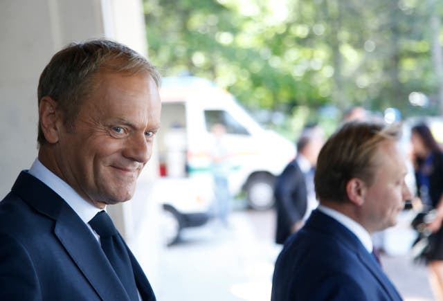 Mr Tusk famously said before the 2016 US election that 'one Donald in international politics is enough' (AP)