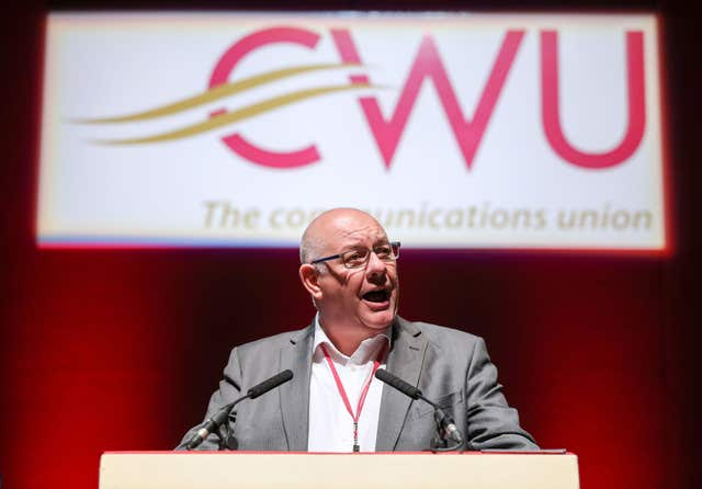 CWU general secretary Dave Ward