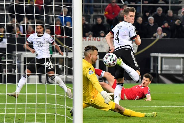 Matthias Ginter, center, scored an exquisite backheeled goal to open the scoring