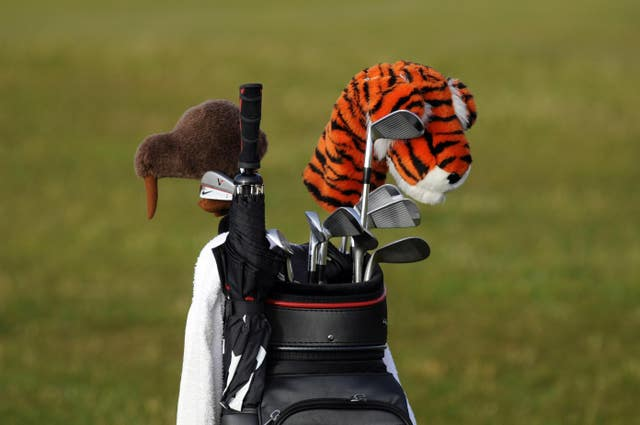 Tiger Woods' golf bag during at The Open Championship 2010 at St Andrews, Fife, Scotland