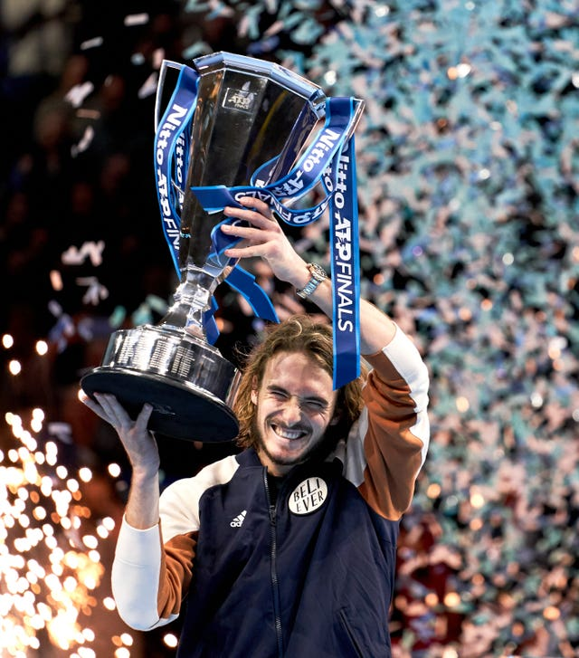 Stefanos Tsitsipas lifted the trophy at The O2 last year
