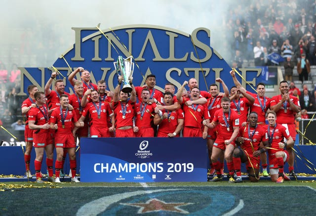 Saracens secured success in the Heineken Champions Cup last year after a 20-10 victory over Leinster in Newcastle