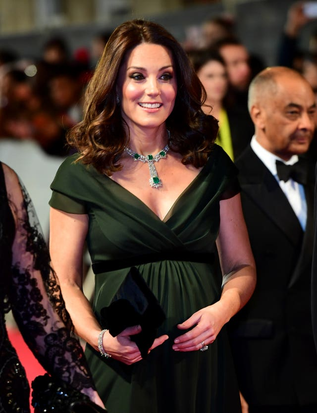 The Duchess of Cambridge attending the Baftas (Ian West/PA)