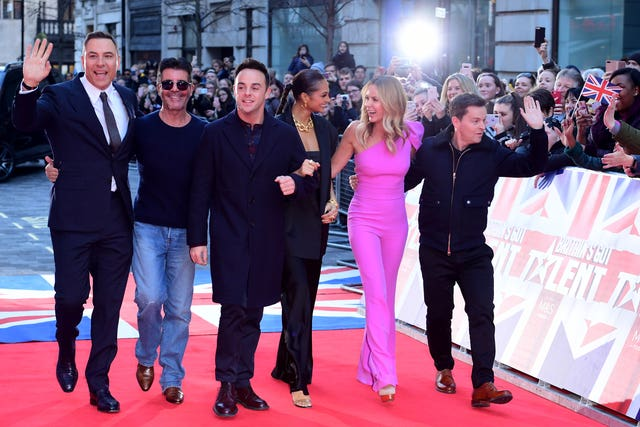 David Walliams, Simon Cowell, Anthony McPartlin, Alesha Dixon, Amanda Holden and Declan Donnelly