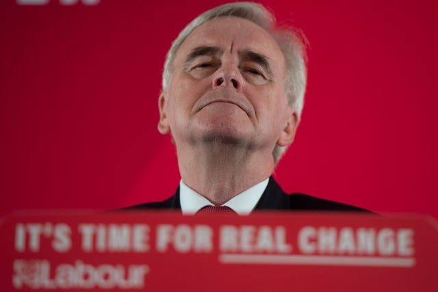 Shadow chancellor John McDonnell has distanced himself from the role (David Mirzoeff/PA)
