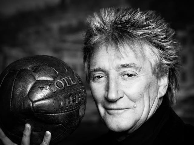 A new portrait of Sir Rod Stewart (