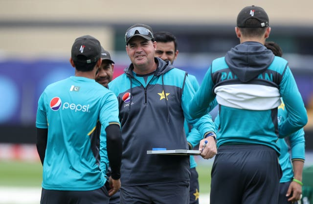 Mickey Arthur, centre, has urged Pakistan's players to create lasting legacies for themselves (Simon Cooper/PA)