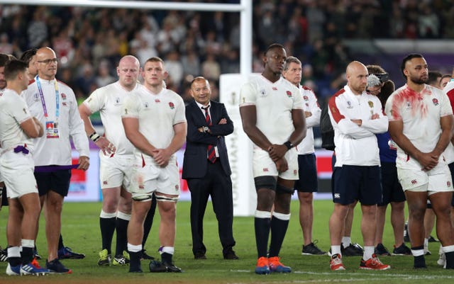Eddie Jones and the England players