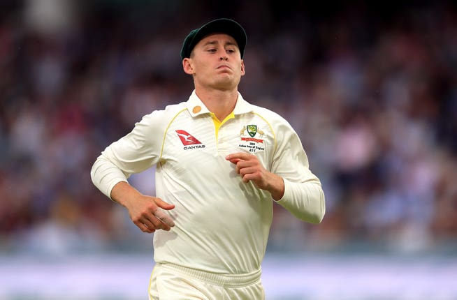 Marnus Labuschagne has been called in as a concussion substitute
